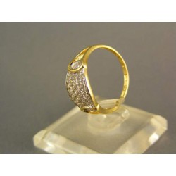 Zlatý dámsky prsteň veľmi pekný žlté zlato VP53224Z