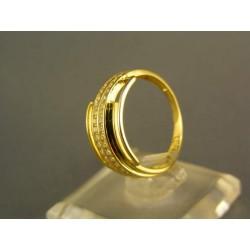 Zlatý dámsky prsteň moderný tvar žlté zlato VP54297Z