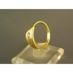 Zlatý prteň jednoduchý dámsky žlté zlato VP53265Z