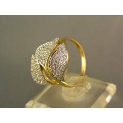 Zlatý dámsky prsteň s krásnymi listami žlté zlato VP55402Z4