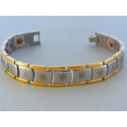Magnetický náramok ch. oceľ vzorovaný VNO214393