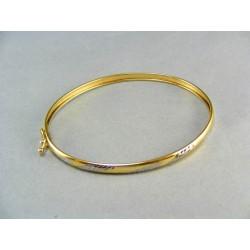 Zlatý dámsky pevný náramokt tenký DN492V