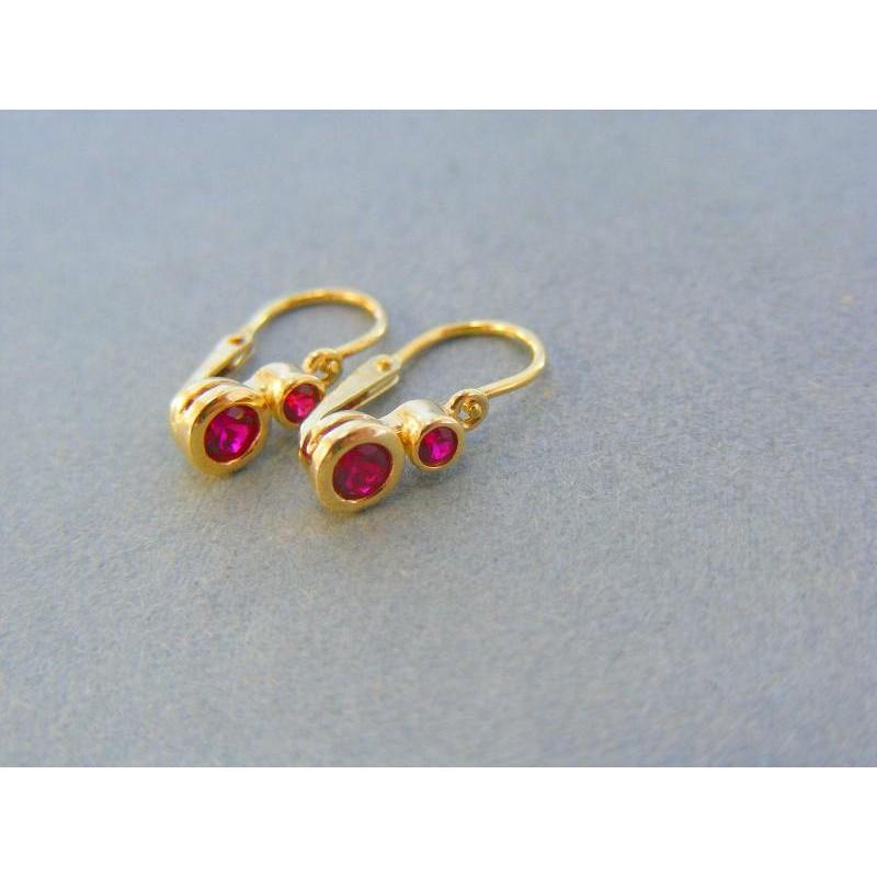 009ddc94e Zlaté detské náušnice ružové kamienky zirkónu žlté zlato VA117Z. Loading  zoom