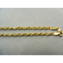 Zlatá retiazka točený vzor žlté zlato DR50530