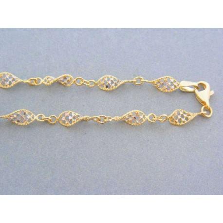 da0f137bb Zlatá retiazka dámska dvojfarebné zlato DR455940V