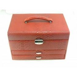 Dámska šperkovnica tmava červená D5144