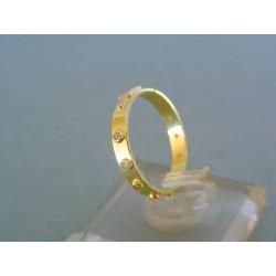Zlatý prsteň ruženec žlté červené zlato kamienky VP53170V