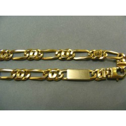 Zlatá retiazka hrubá luxusná žlté zlato DR5653846