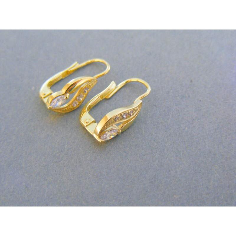 3a33d6d19 Zlaté dámske náušnice žlté zlato kamienky VA185Z. Loading zoom