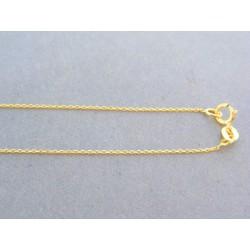 Zlatá retiazka žlté zlato jemný ručný vzor DR41082Z