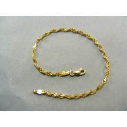Zlatý náramok dámsky točený žlté zlato DN19240Z