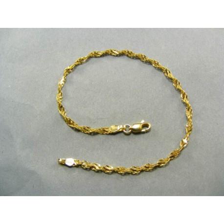 Zlatý náramok dámsky točený žlté zlato