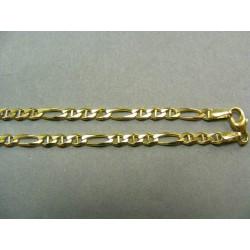 Zlatá retiazka vzor figaro žlté zlato DR45786