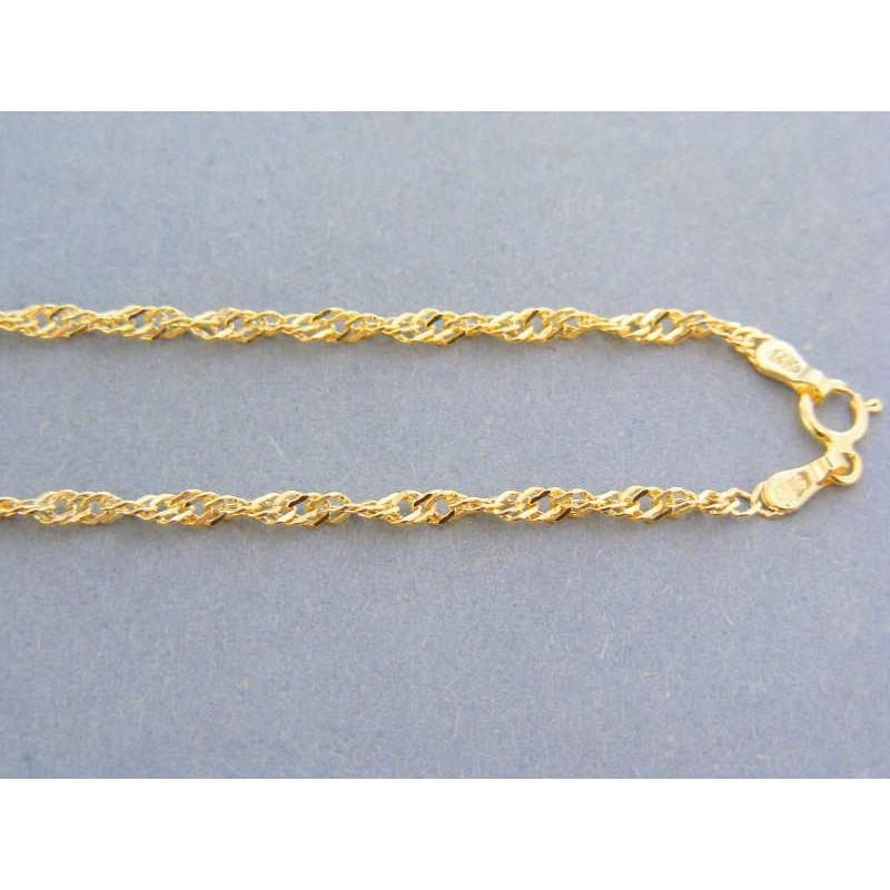 a4158148a Zlatá retiazka žlté zlato vzor singapur VR56239Z. Loading zoom