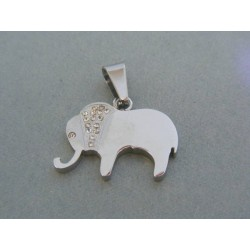 Prívesok sloník ch. oceľ kamienky VIO561