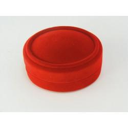 Zamatová ozdobná krabička červená F-218/A7