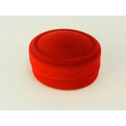 Ozdobená zamatová krabička červená F-66/A7