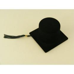 Ozdobná krabička červená čierna klobúk na promocie D340
