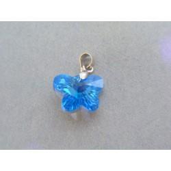 Postriebrený prívesok motýľ VIS158