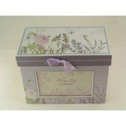 Box na fotky kvetovaný D2990