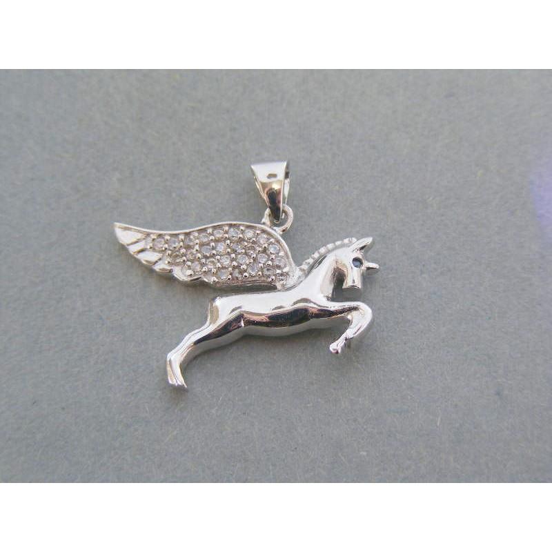 41fdf1cf9 Strieborný prívesok kôň kamienky VIS298 925/1000 2.98g. Loading zoom