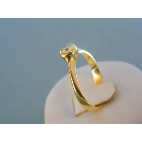 Zlatý dámsky prsteň s diamantom žlté zlato VP62443Z 14 karátov 585/1000 4.43g