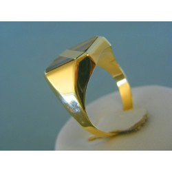 Zlatý pánsky prsteň žlté zlato VP67555Z 14 karátov 585/1000 5.55g