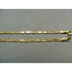 Zlatá retiazka vzor žiletka žlté zlato VR42632