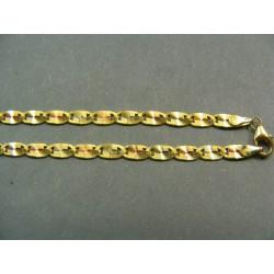 Zlatá retiazka viacfarebné zlato žiletka VR42897
