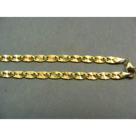 Zlatá retiazka viacfarebné zlato žiletka