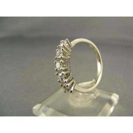 Diamantový prsteň biele zlato 18 karatové