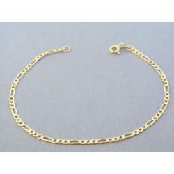 4034d2117 Zlatý náramok vzor figáro žlté zlato DN20163Z 14 karátov 585/1000 1.63g