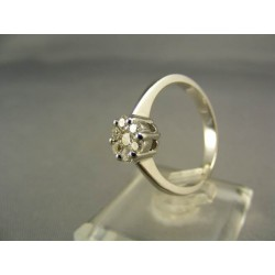 Diamantový prsteň biele zlato VD56392
