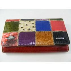 Dámska kožená peňaženka vzorovaná D0203Rosso