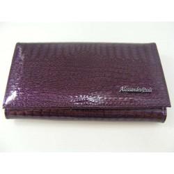 Dámska kožená peňaženka fialová D01-03