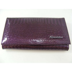Dámska kožená peňaženka fialová V01-03