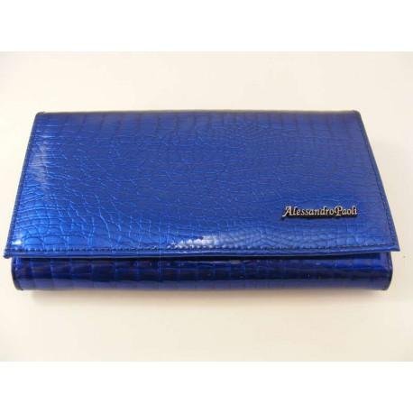 Dámska kožená peňaženka modra V01-03Blue