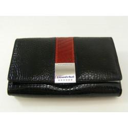 Dámska kožená peňaženka čierna V03-04Nero
