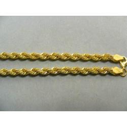 Zlatá retiazka žlté zlato točený vzor DR50833