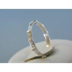 Zlatý prsteň rúženec biele zlato bez kamienkov DP54145B