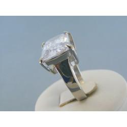 Dámsky prsteň veľký zirkón ch. oceľ DPO571037 316L 10.37g