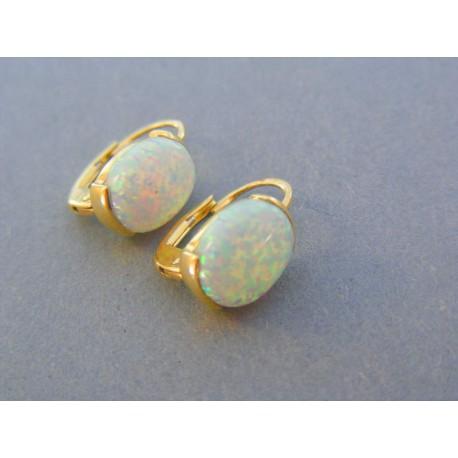 da56b3383 Zlaté dámske náušnice kameň opál žlté zlato VA258Z 14 karátob 585/1000 2.58g