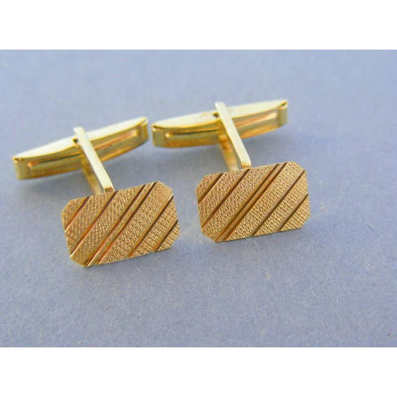 5b9ad724790e Zlaté manžetové gombíky žlté zlato vzorované DMG425Z 14 karátov 585 1000  4.25g. Loading zoom