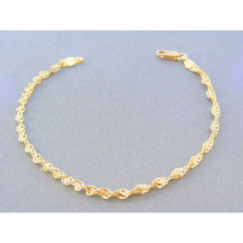 26ae6611b Zlatý dámsky náramok žlté zlato točený vzor DN175231Z 14 karátov 585/1000  2.31g. Loading zoom