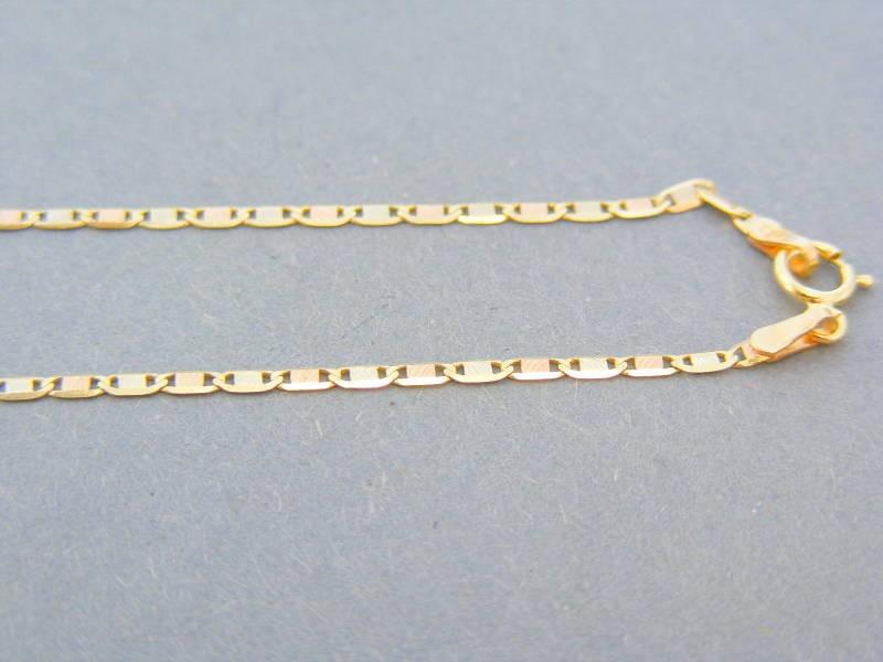 a501e6832 Zlatá retiazka žlté červené zlato platničky DR42196V 14 karátov 585/1000  1.96g. Loading zoom