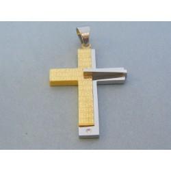 Prívesok krížik ch. oceľ VIKO1844 316L 18.44g