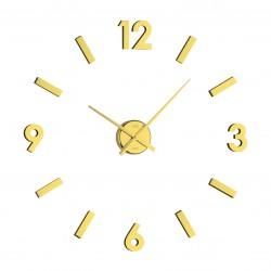 Nalepovacie nástenné hodiny zlato medené JVD HB11.1