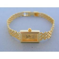 Zlaté náramkove hodinky GENEVA 990 14 karátov 585/1000