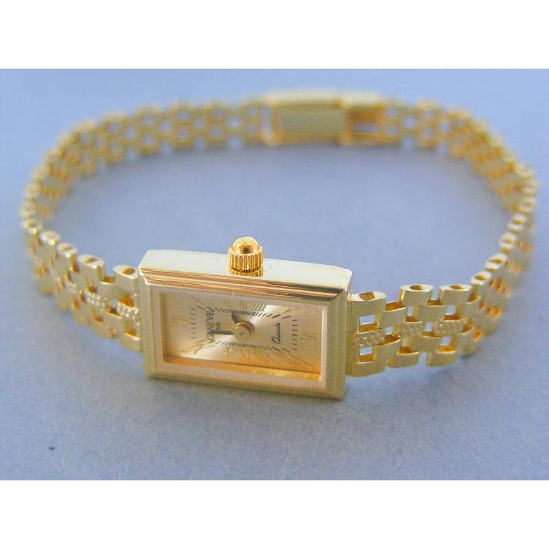 Zlaté náramkove hodinky GENEVA 990 1 14 karátov 585 1000 941aa9b34a