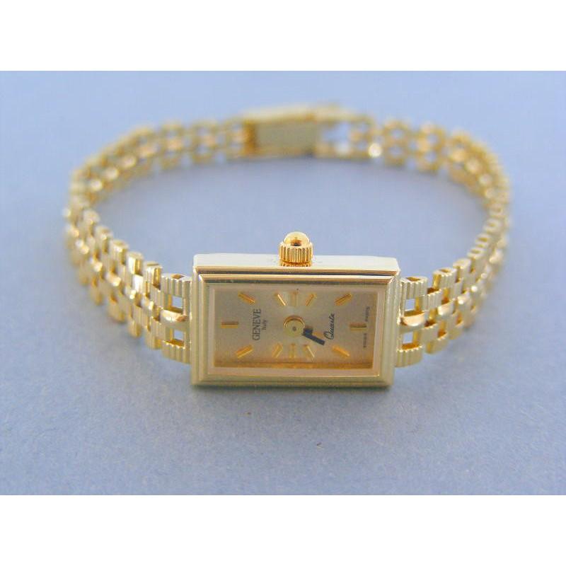Zlaté náramkove hodinky GENEVE 990 2 14 karátov 585 1000 bb650aae213